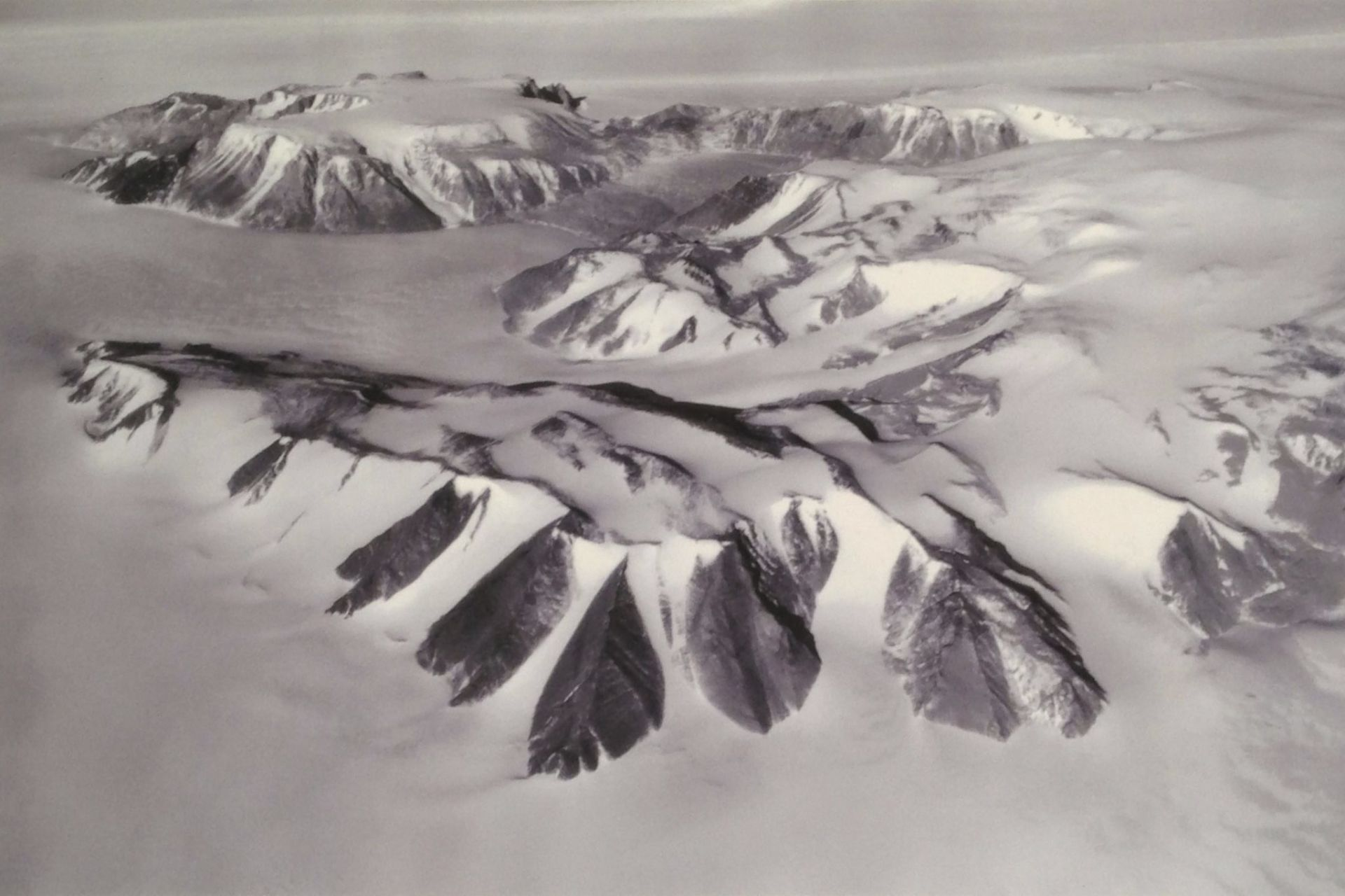Aerial photo of Greene Ridge, Antarctica
